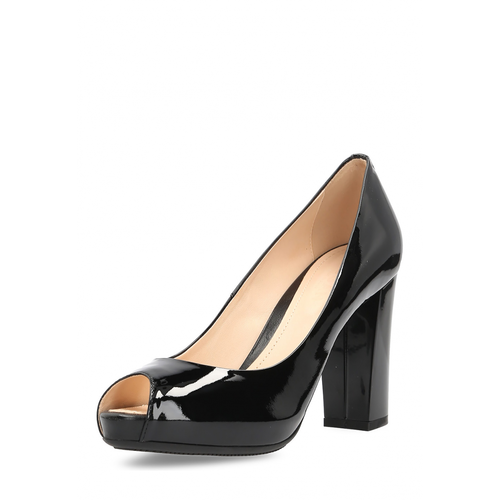 Hogan Womens Pump Open Toe Black - Winter Haven Co