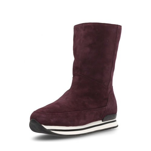 Hogan Womens High Boot Bordeaux - Winter Haven Co
