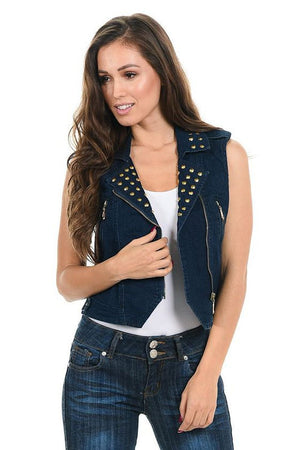 M.Michel Women's Denim Vest - Winter Haven Co