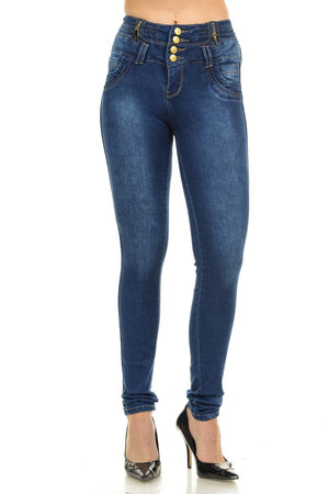 M.Michel Women's Jeans Colombian Design, Butt Lift, Levanta Pompa, Push Up - Skinny - Winter Haven Co