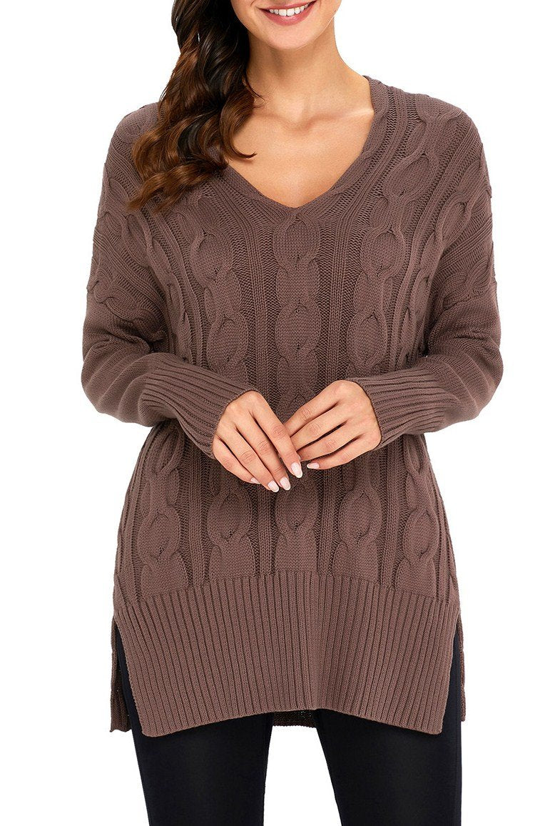 Mocha Oversized Cozy up Knit Sweater - Winter Haven Co