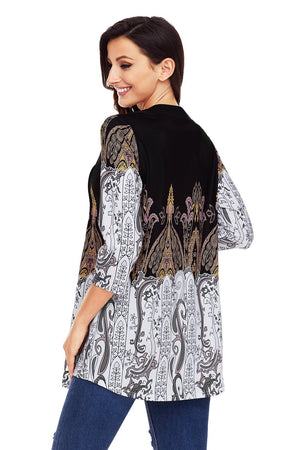 Multicolor Stylish Print Flowy Blouse - Winter Haven Co