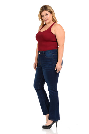 Pasion Women's Jeans - Missy Size - High Waist - Push Up - Straight - Winter Haven Co