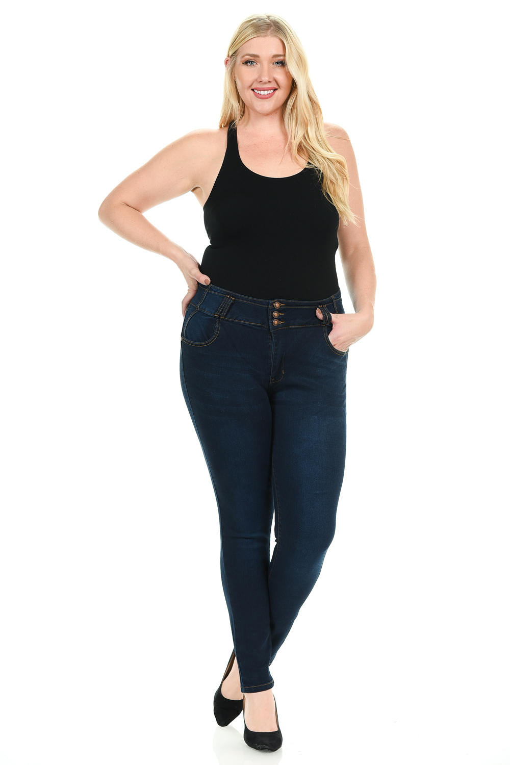 Pasion Women's Jeans - Plus Size - High Waist - Push Up - Skinny - Winter Haven Co
