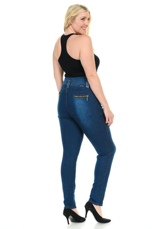 Pasion Women's Jeans - Plus Size - High Waist - Push Up - Skinny - Style N578