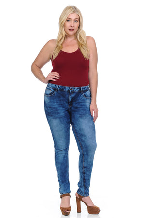 Studio Alpha Women's Jeans - Plus Size - High Waist - Push Up - Skinny - Winter Haven Co