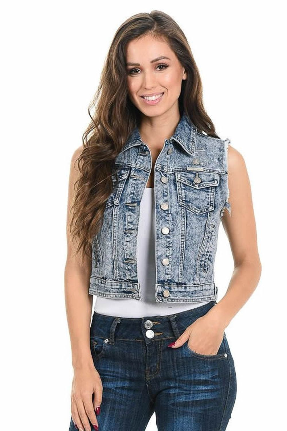 Sweet Look Women's Denim Vest - Style 933