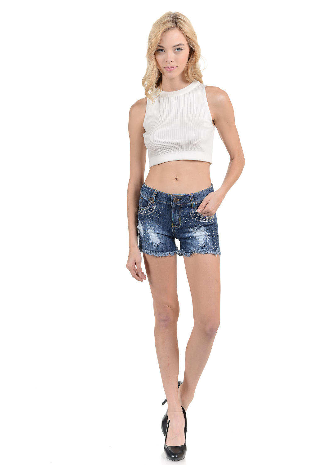 Sweet Look Women's Shorts - Skinny - Winter Haven Co