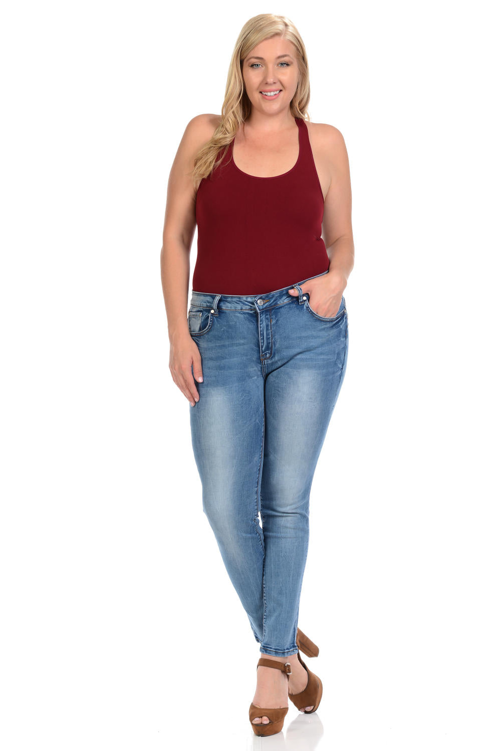 Sweet Look Premium Edition Women's Jeans - Plus Size - High Waist - Skinny - Style A280
