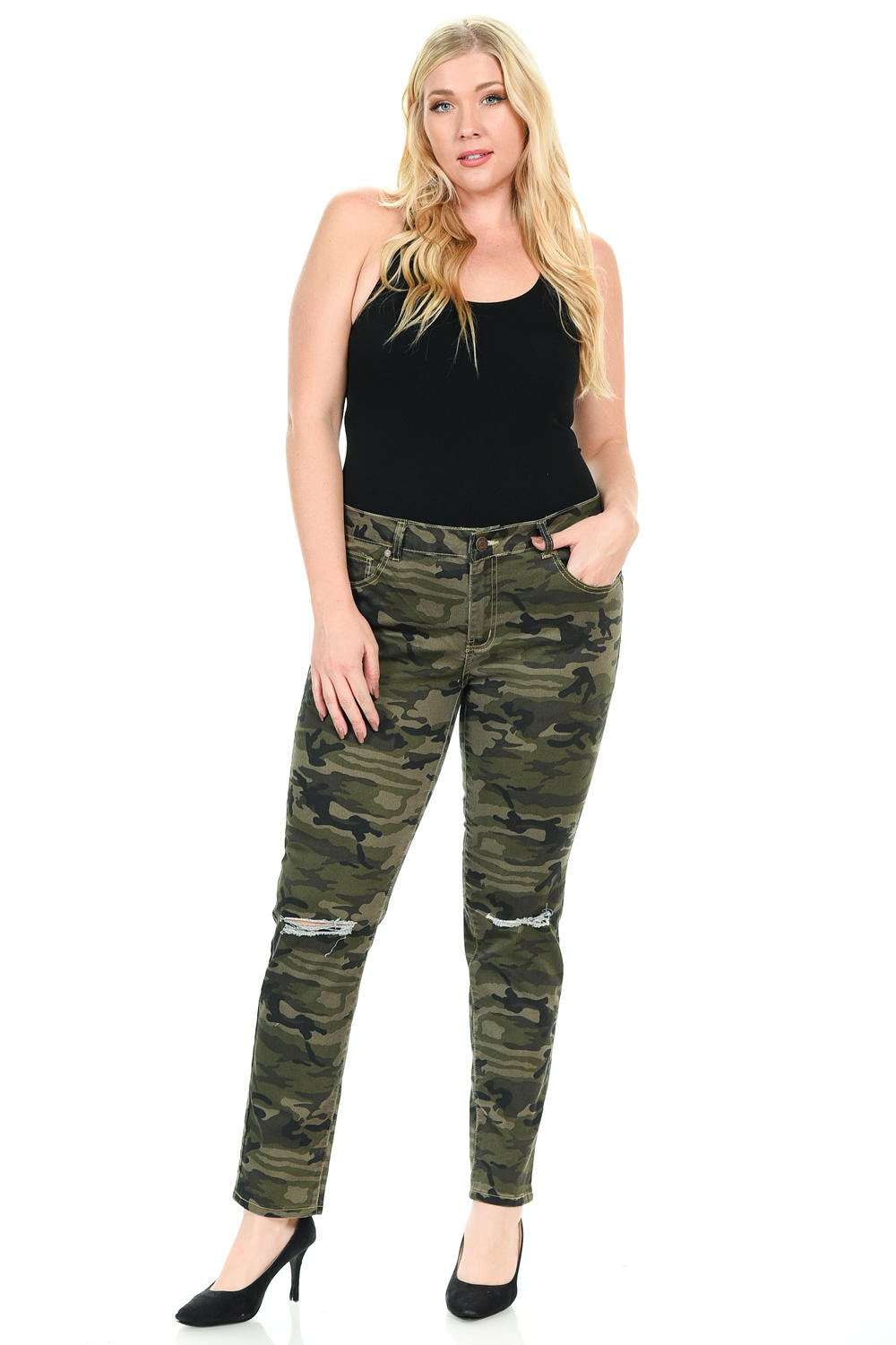 Sweet Look Premium Edition Women's Jeans - Plus Size - High Waist - Skinny - Style CS009-R