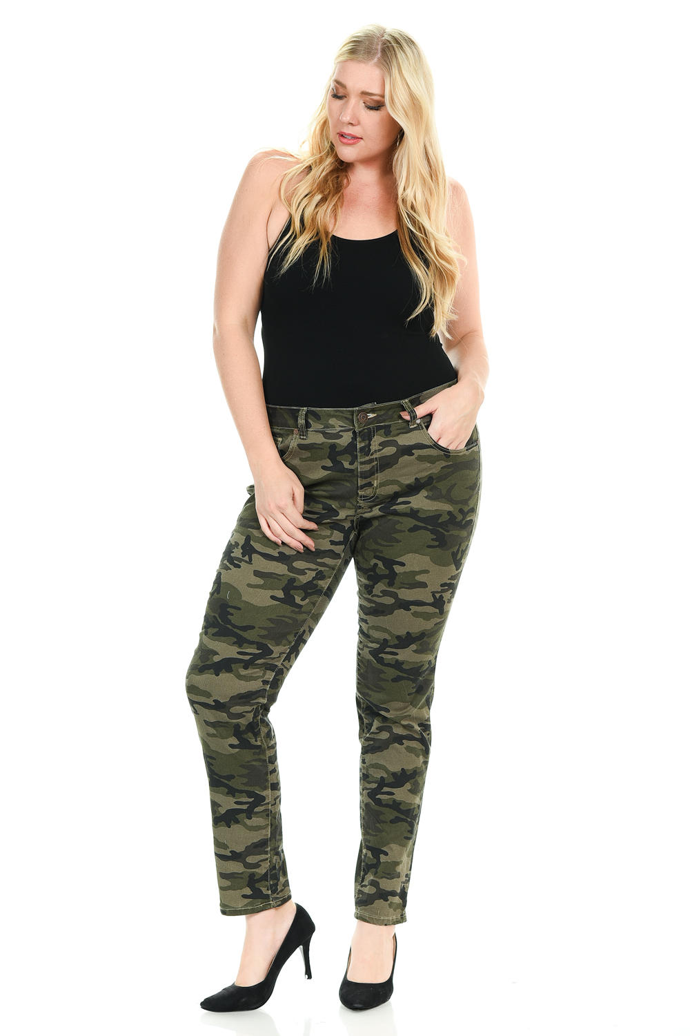 Sweet Look Premium Edition Women's Jeans - Plus Size - High Waist - Skinny - Style CS009