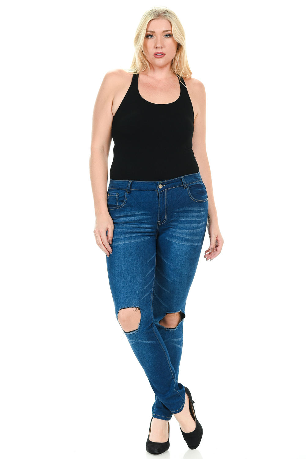 Sweet Look Premium Edition Women's Jeans - Plus Size - High Waist - Skinny - Style N066