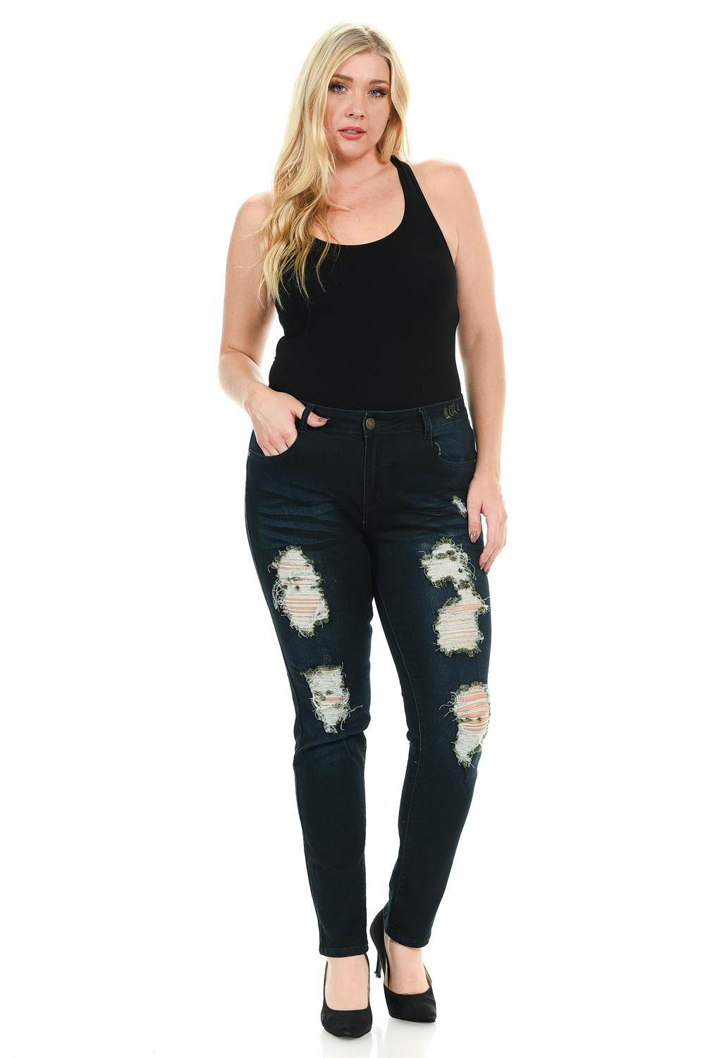 Sweet Look Premium Edition Women's Jeans - Plus Size - High Waist - Skinny - Style N304A-R