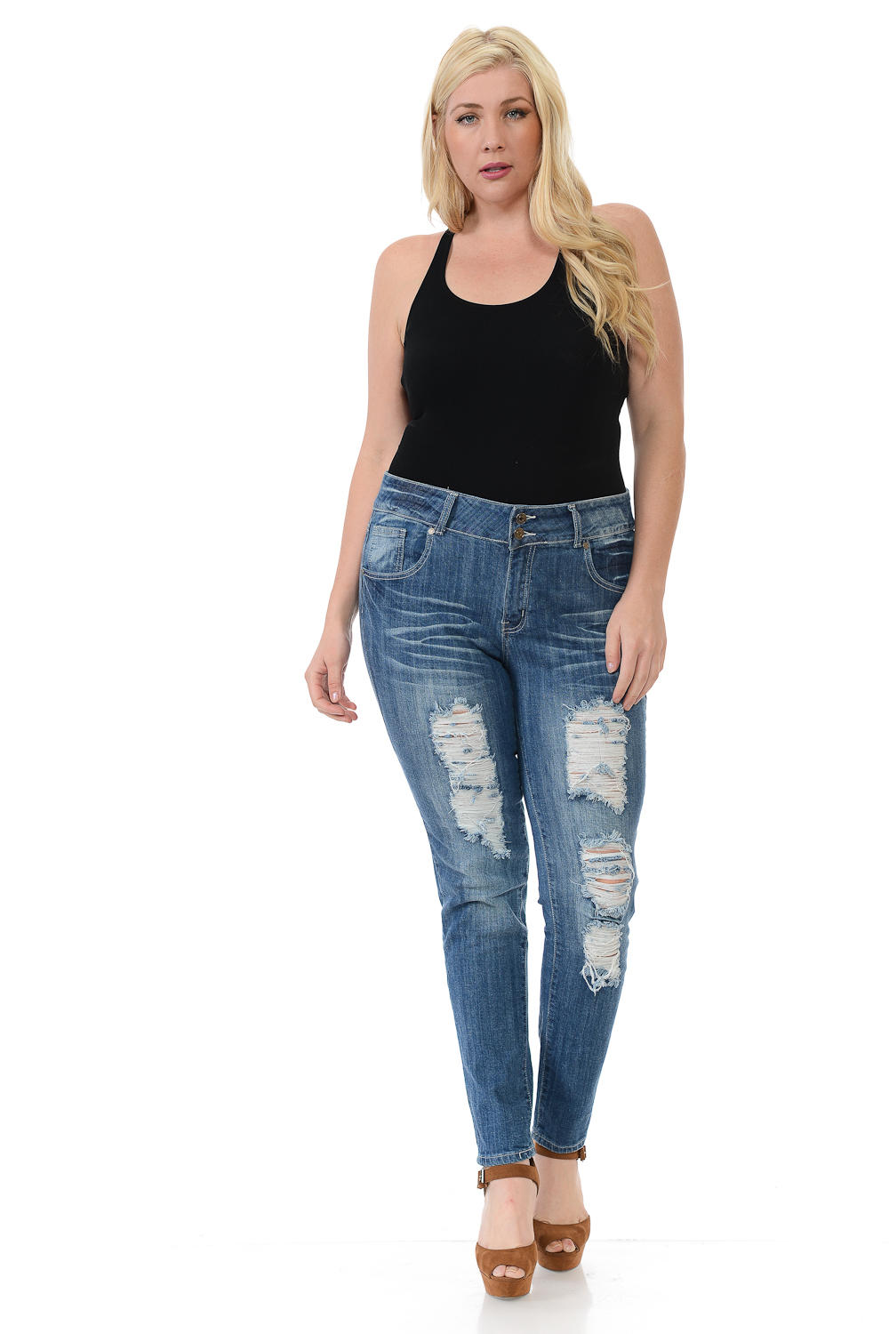 Sweet Look Premium Edition Women's Jeans - Plus Size - High Waist - Skinny - Style N426H