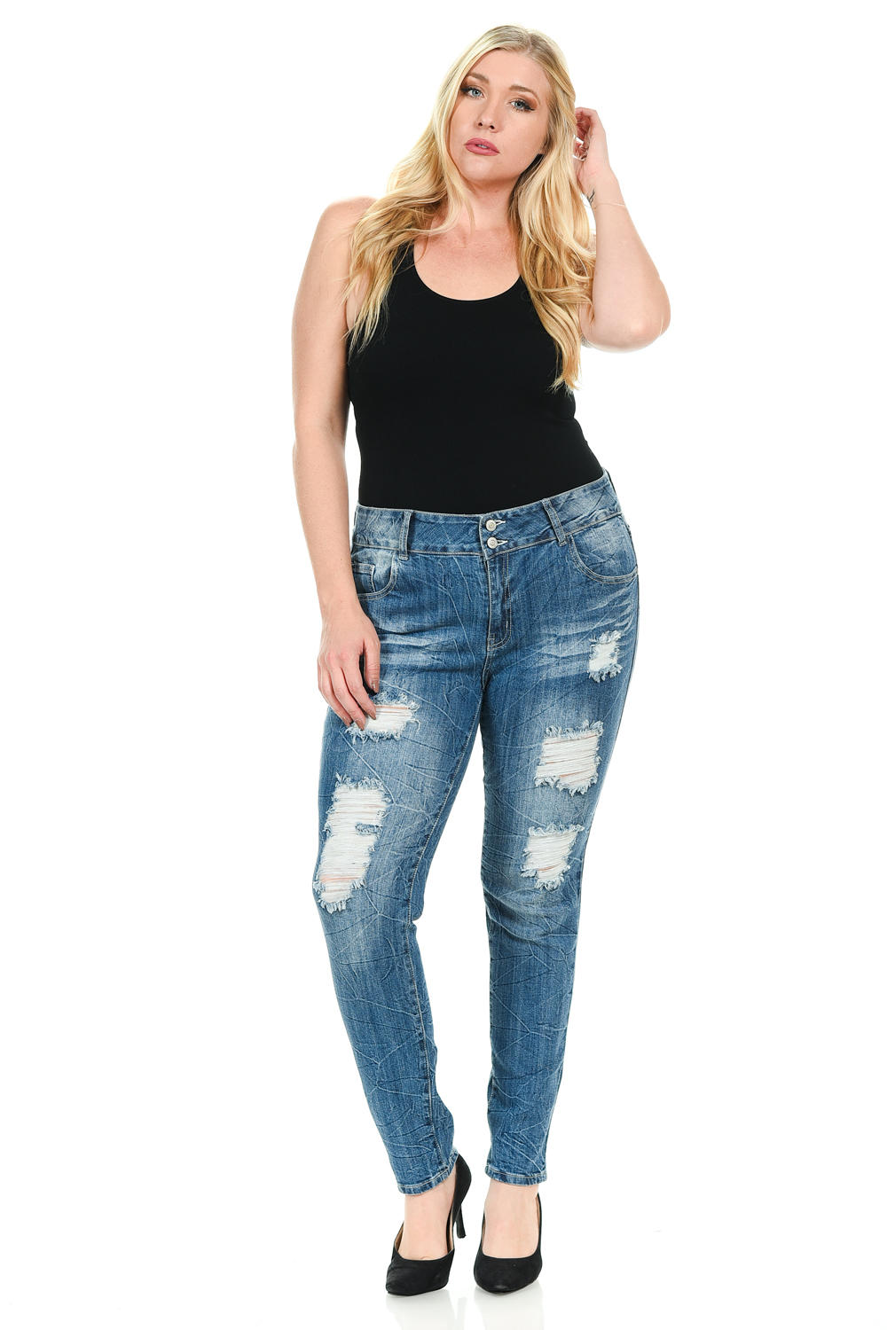 Sweet Look Premium Edition Women's Jeans - Plus Size - High Waist - Skinny - Style N528H-R
