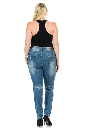 Sweet Look Premium Edition Women's Jeans - Plus Size - High Waist - Skinny - Winter Haven Co