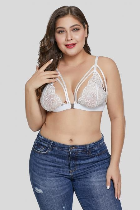 White Lace Plus Size Bralette - Winter Haven Co