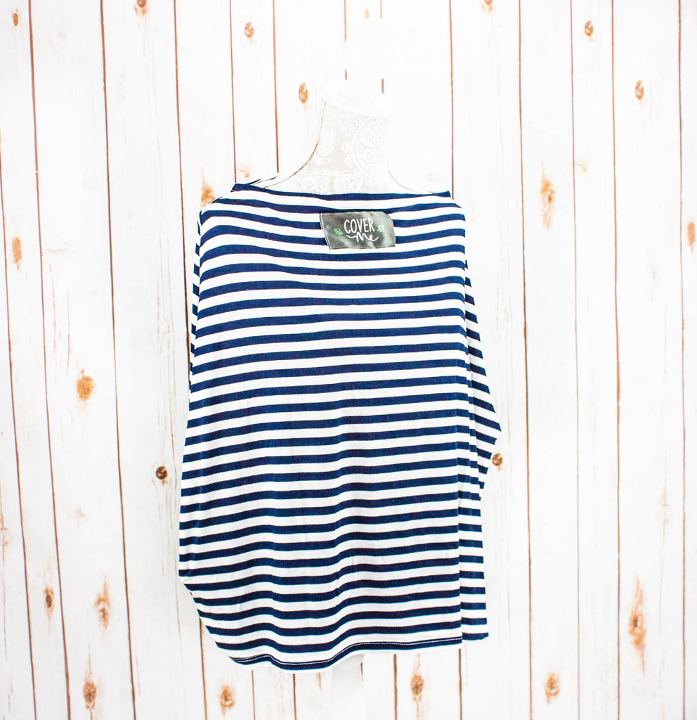 Blue and White Stripe Cover Me