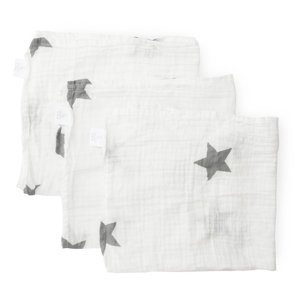 Organic Cotton Super Soft Muslin Cloths (3PK)