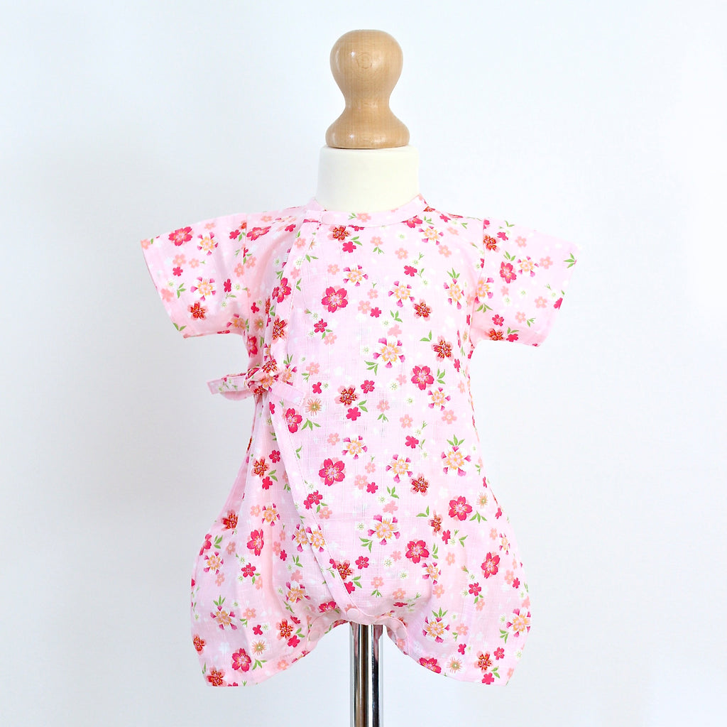 Pink Blossom Baby Grow