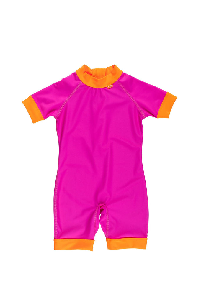 UPF50+ Short Sleeve All In One Surf Suit Thai Pink