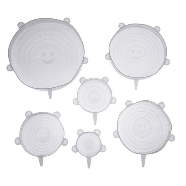 Kitchen Collection 6 Piece Reusable Silicone Stretch Lids
