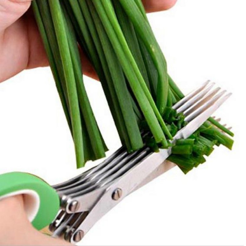 Stainless Steel 5 Layer Kitchen Herb Scissors