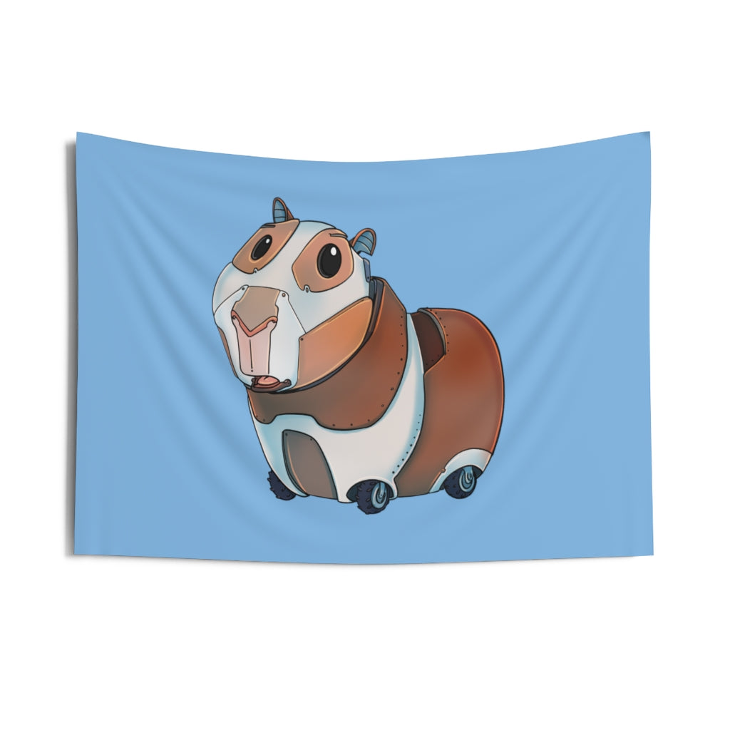 """Guinea Pig Robot"" Indoor Wall Tapestry"