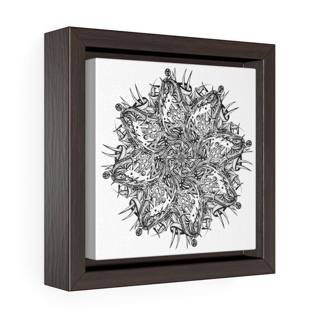 $5-$10 OFF Square Framed Premium Gallery Wrap Canvas Add-On for Custom Name Mandala - Dan Pearce Creative Shop
