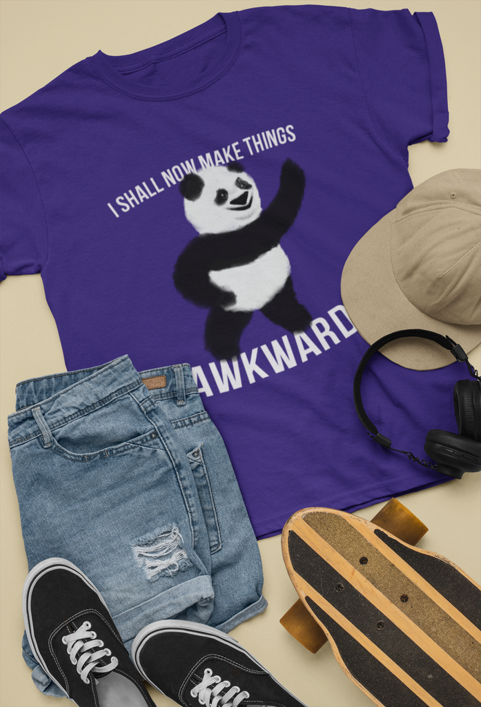 """I Shall Now Make Things Awkward"" Panda Premium T-Shirt"