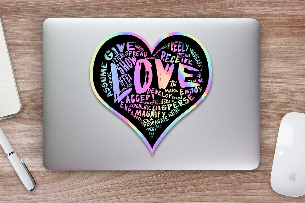 "The Official Hologram ""LOVE"" Sticker - Vinyl Sticker (5 sizes available)"