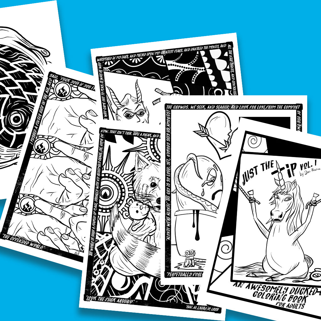 BOGO Just the Tip: An Awesomely Ducked-Up Coloring Book for Adults