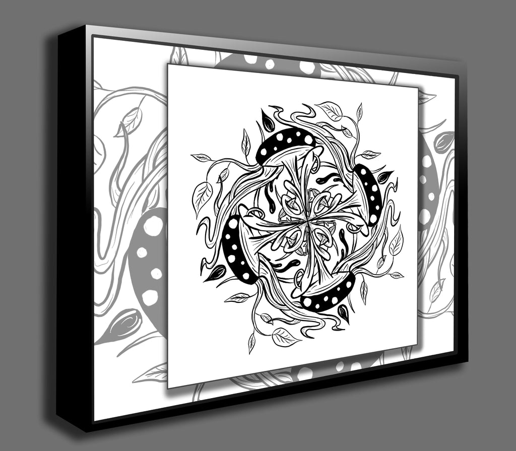 Dan Pearce's Mandala #5 Gallery Wrap Art Canvas