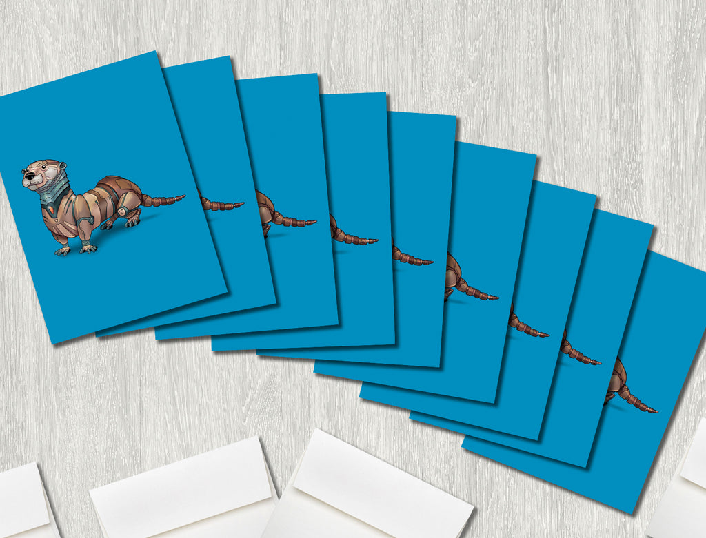 """Otter Robot"" Premium Greeting Card(s)"