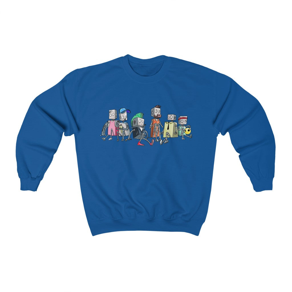 """Robot Friends"" Crewneck Premium Sweatshirt"