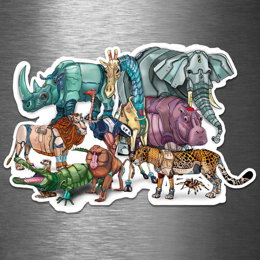 """African Animals"" - Premium 5.25"" or 7.25"" Vinyl Sticker (PRE-ORDER) - Dan Pearce Creative Shop"