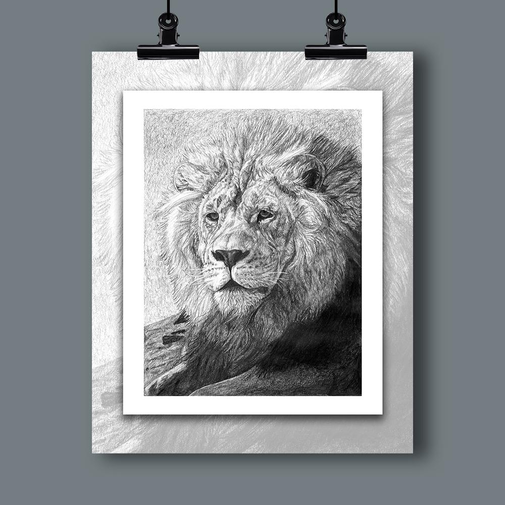 """African Nobility"" Specialty Art Lion Print - Dan Pearce Creative Shop"
