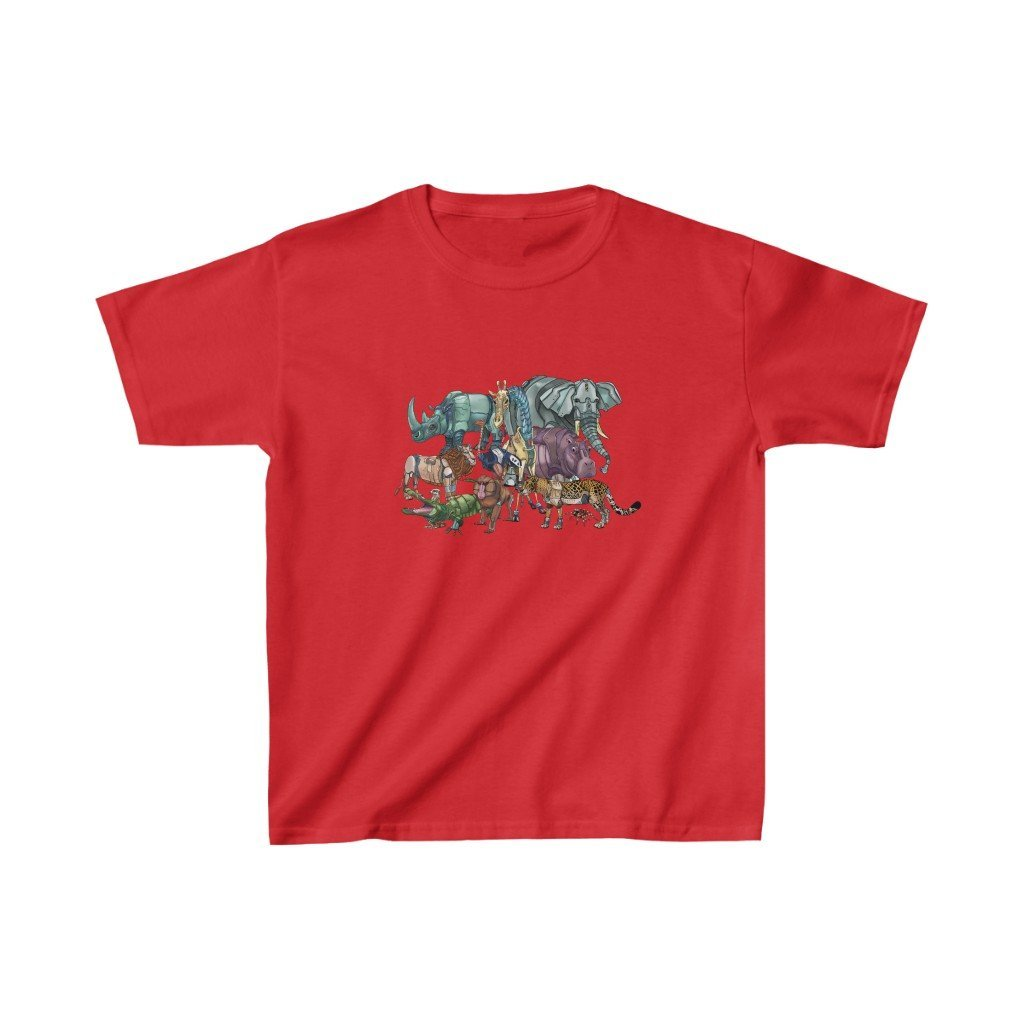 """African Robot Animals"" Kids Heavy Cotton™ T-Shirt (Youth) - Dan Pearce Creative Shop"