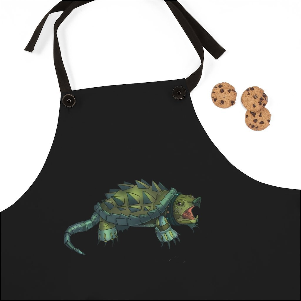 """Alligator Snapping Turtle Robot"" Cooking Apron Featuring Art by Dan Pearce - Dan Pearce Creative Shop"