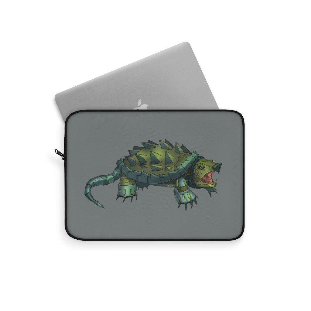 """Alligator Snapping Turtle Robot"" Laptop Sleeve Featuring Artwork by Dan Pearce - Dan Pearce Creative Shop"