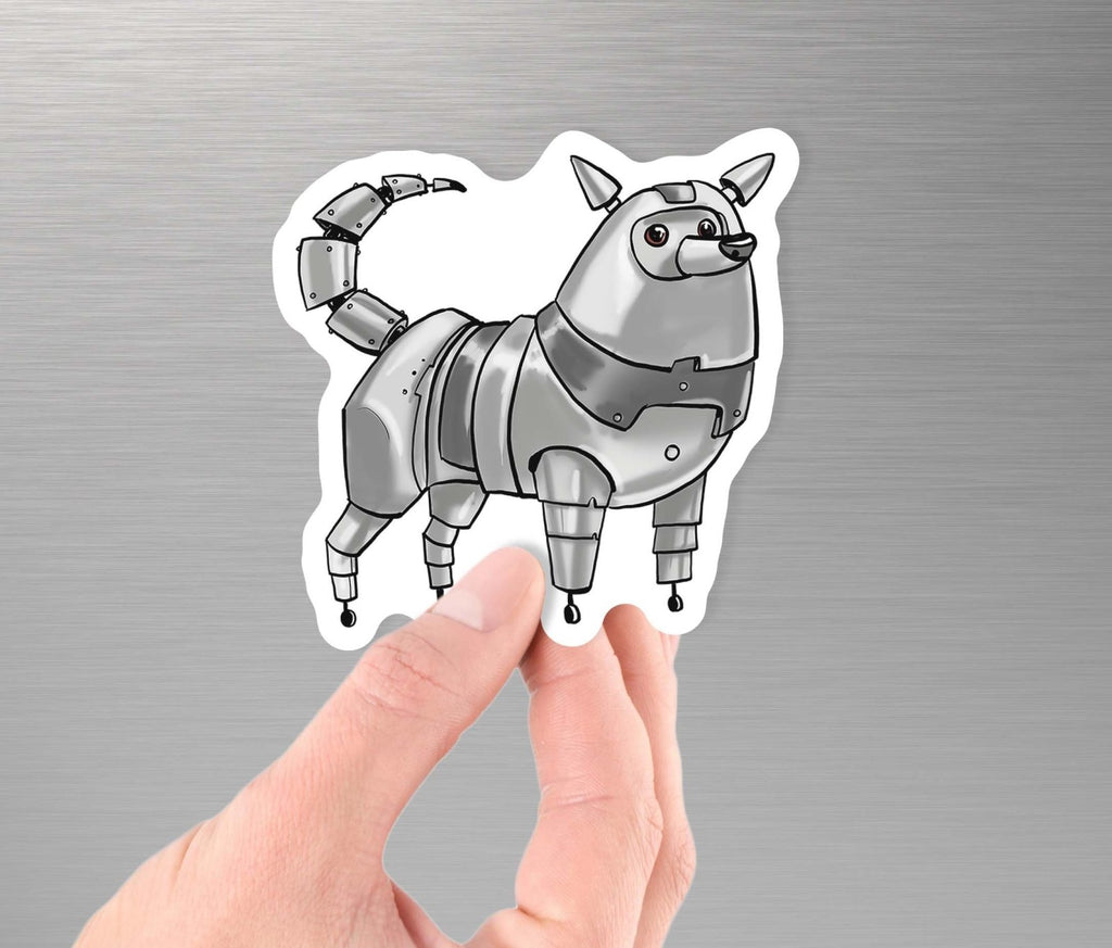 """American Eskimo Dog Robot"" - 3.5"" Premium Vinyl Sticker - Dan Pearce Creative Shop"