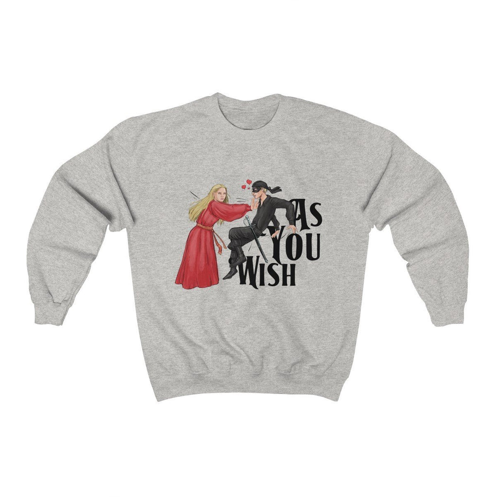 """As You Wish"" True Love Crewneck Premium Sweatshirt - Dan Pearce Creative Shop"