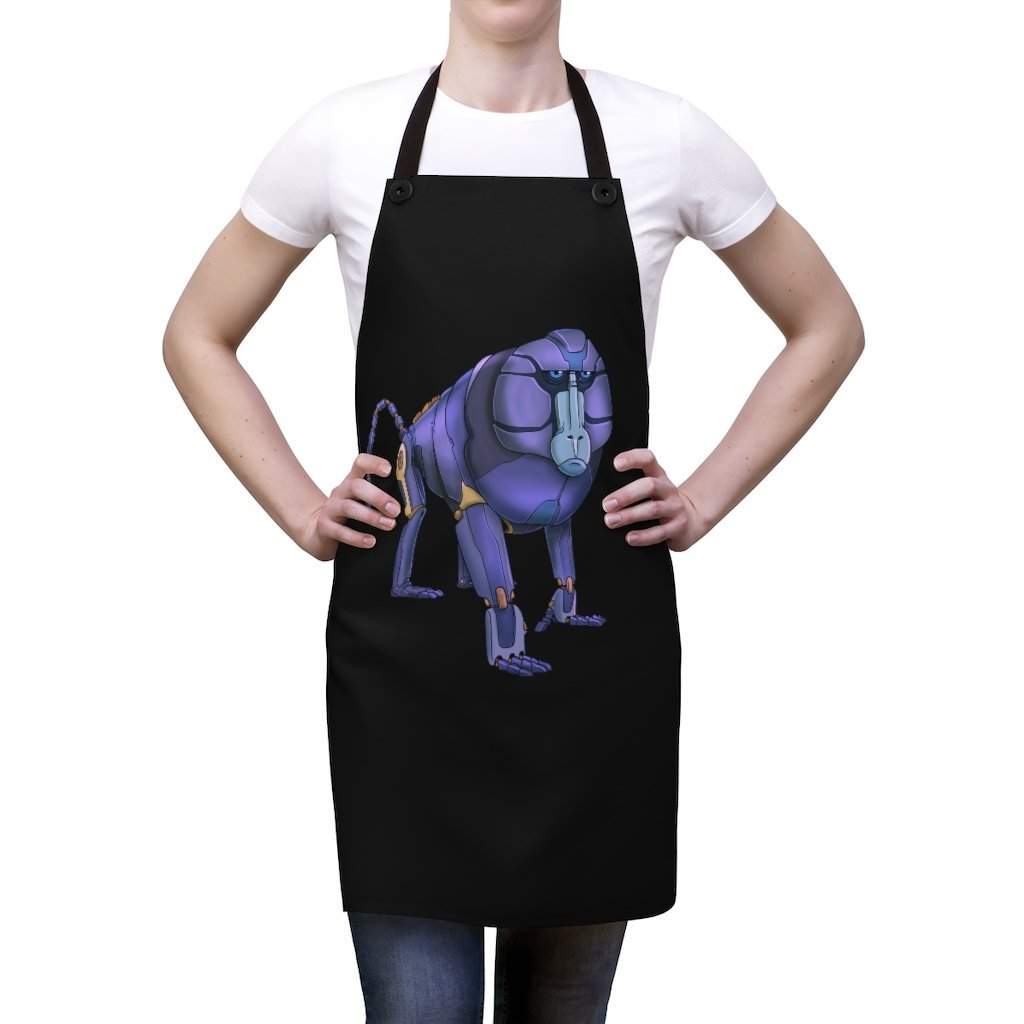 """Baboon Robot"" Cooking Apron Featuring Art by Dan Pearce - Dan Pearce Creative Shop"