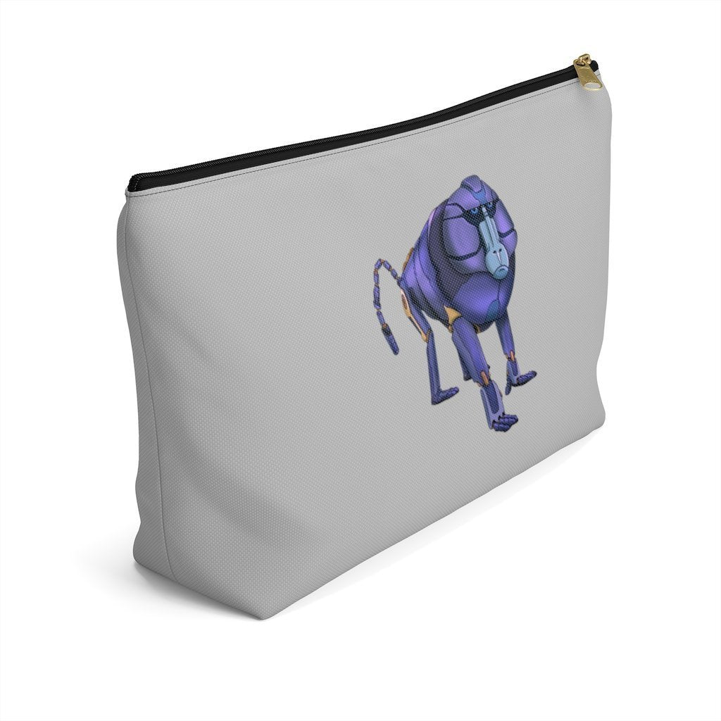 """Baboon Robot"" Cosmetic Bag & Accessory Pouch Featuring Art by Dan Pearce - Dan Pearce Creative Shop"