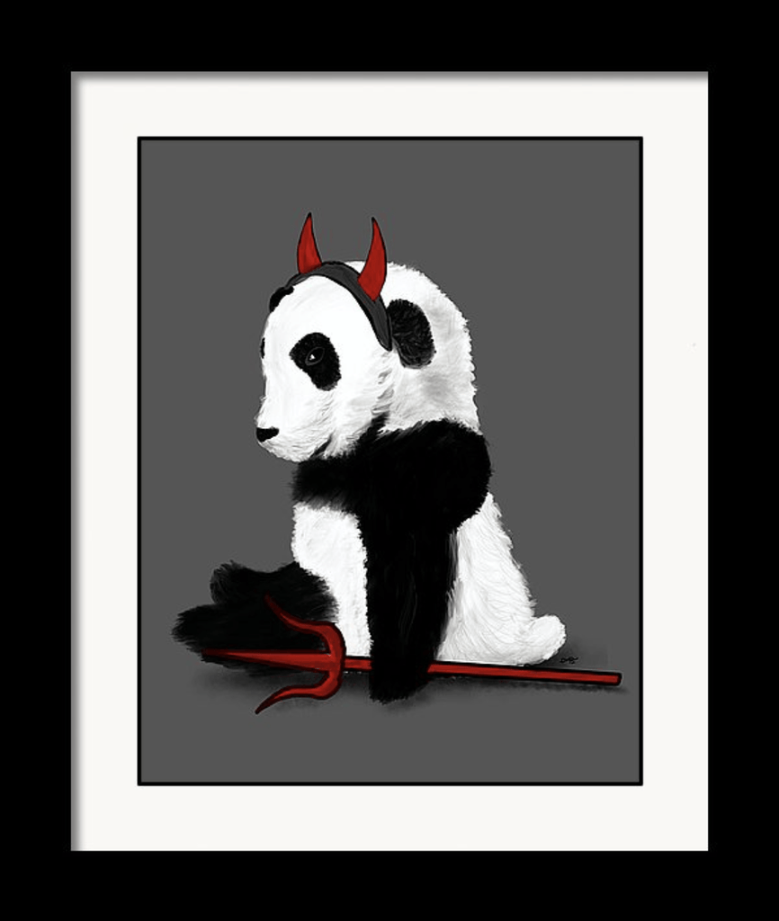 """Bad Side Panda"" Art Print - Dan Pearce Creative Shop"