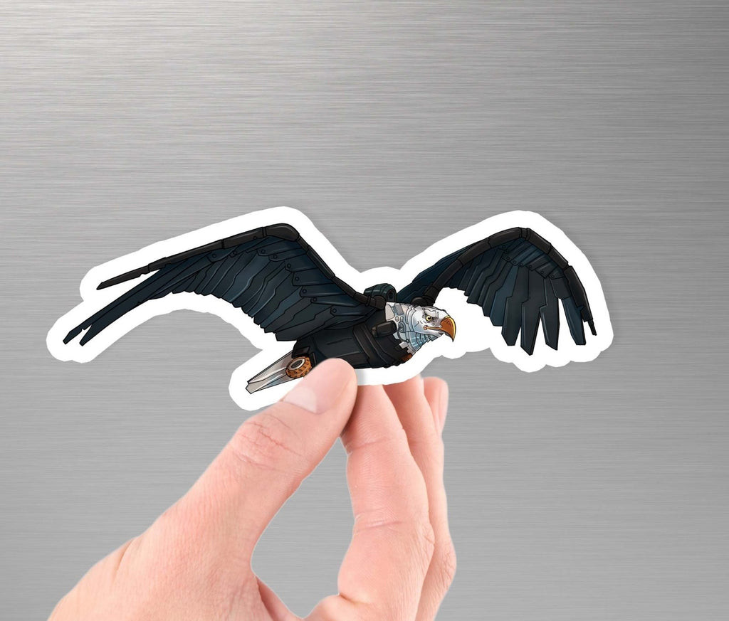 """Bald Eagle Robot"" - 3.5"" Premium Vinyl Sticker - Dan Pearce Creative Shop"