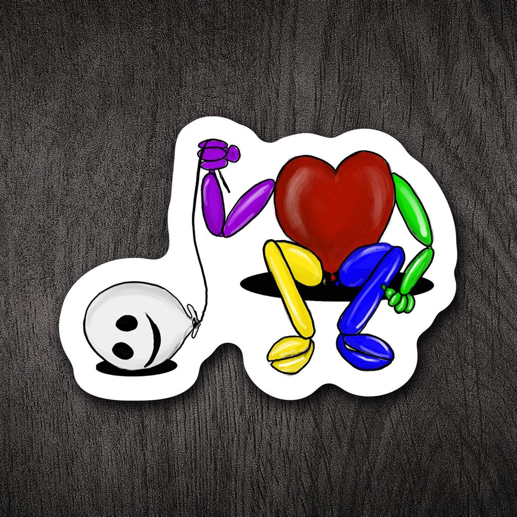 "Balloon Man: ""Just One of Those Days"" 3.5"" Vinyl Sticker - Dan Pearce Creative Shop"