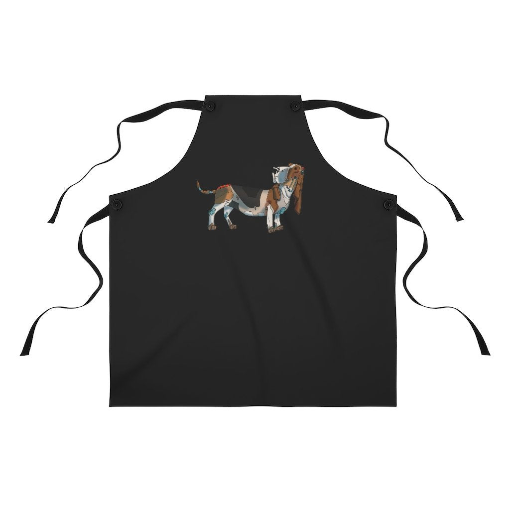 """Basset Hound Robot"" Cooking Apron Featuring Art by Dan Pearce - Dan Pearce Creative Shop"