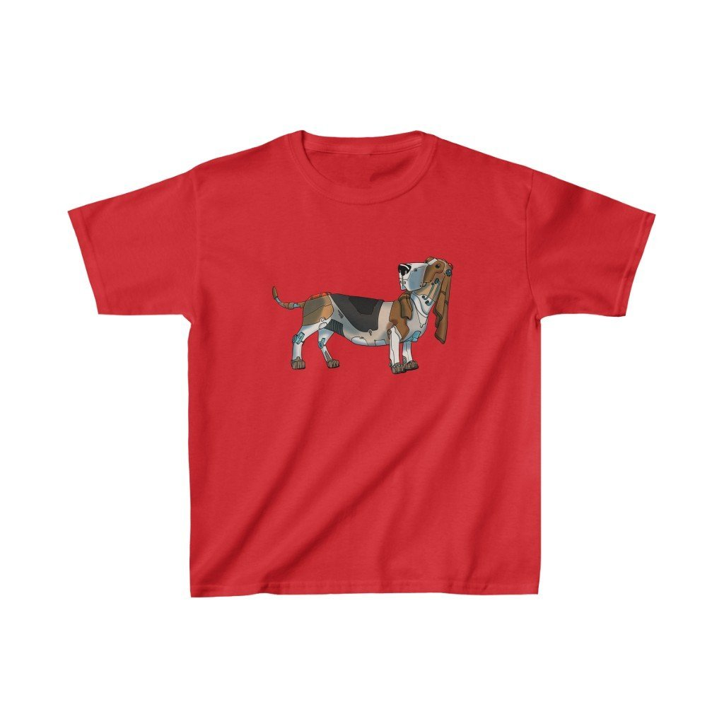 """Basset Hound Robot"" Kids Heavy Cotton™ T-Shirt (Youth) - Dan Pearce Creative Shop"