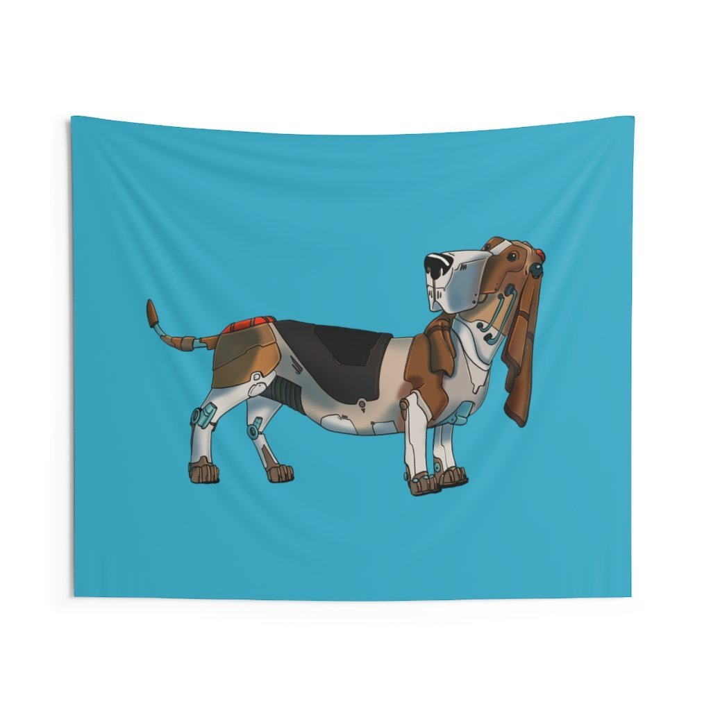 """Basset Hound Turtle"" Indoor Wall Tapestry - Dan Pearce Creative Shop"